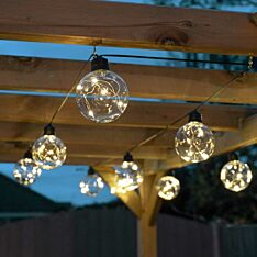 Outdoor Battery Firefly Wire Clear Bulb Festoon Lights