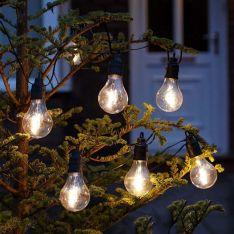 Battery Filament Effect Warm White LED Festoon Lights