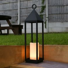 74cm Outdoor Battery Oslo Candle Lantern