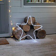 ConnectGo Outdoor Star Christmas Silhouette, Connectable, 72 White LEDs