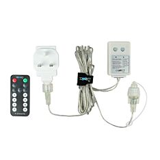 ConnectGo Small Transformer, UK Plug, Clear Cable with Remote Control