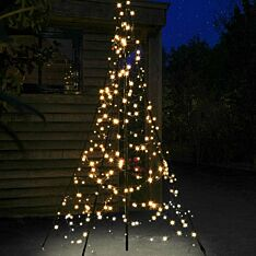 2m Outdoor FairyBell Pre-Lit Tree, 300 Warm White LEDs
