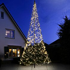 6m Outdoor FairyBell Pre-Lit Tree, 1200 Warm White LEDs