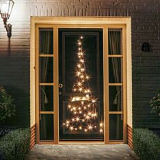 2.1m FairyBell Pre-lit Door Tree, 60 Warm White LEDs