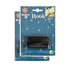 Black 'S' Gutter Hooks for 10 metre Lights, 20 Pack