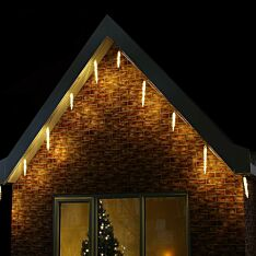 Outdoor LED Icicle Tube Light, White Cable