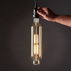 8W E27 Fully Dimmable Vintage Tinted BT75 Filament Style, Warm White LED Light Bulb