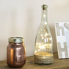 Decorative Battery Glass Bottle with Copper Wire Lights