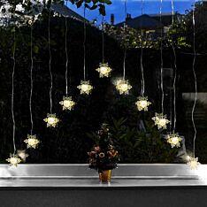 1.4m Battery Snowflake Curtain Light, Warm White LEDs