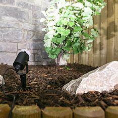 20cm Outdoor Plug In Garden Spot Light, White LEDs