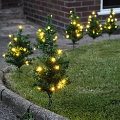Outdoor Tree Path Lights, 90 Warm White LEDs, 6 Pack