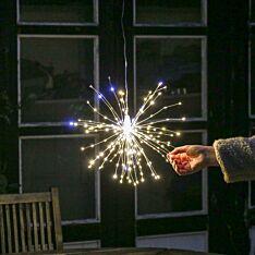 38cm Firefly Starburst Light, 240 White & Warm White Flashing LED