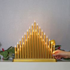 36cm Gold Candle Bridge, 33 Warm White LEDs