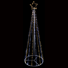 4m Outdoor Firefly Wire Christmas Tree, 1,354 LEDs