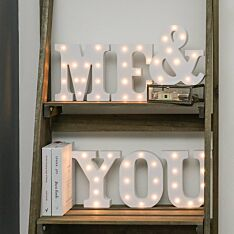 Me & You Battery Light Up Circus Letters, Warm White LEDs