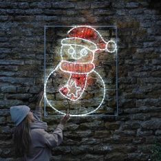 1.1m Large Outdoor Snowman Motif, Twinkle LEDs