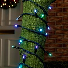 Colour Changing LED String Lights, Connectable, Black Cable
