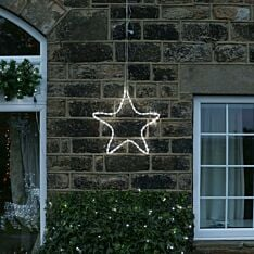53cm Rope Light Star Silhouette Connectable, 72 LEDs