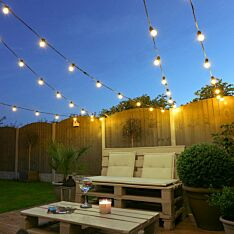Festoon Lights, Connectable, Warm White SMD LEDs, Clear Bulbs, Black Rubber Cable