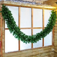 2.7m Green Christmas Garland with Mixed Tips