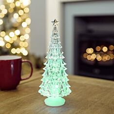 22cm Battery Operated Acrylic Tree, Colour Changing LEDs