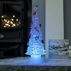 35cm Battery Operated Acrylic Tree, Colour Changing LEDs