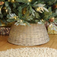 40cm x 57cm Grey Willow Christmas Tree Skirt