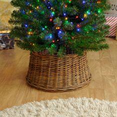 32cm x 38cm Brown Natural Willow Christmas Tree Skirt