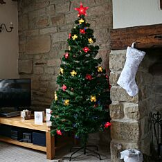 Fibre Optic Christmas Tree with Bows