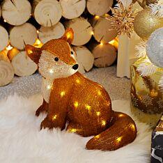 31cm Acrylic LED Sitting Fox Figure