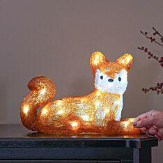 22cm Acrylic LED Lying Fox Figure