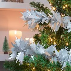 10m Large Fern Leaf Tinsel Christmas Tree Decoration