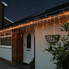 Multi Function Snowing Effect LED Icicle Lights with Timer Function