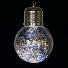 Large Hanging Festoon Bulb with LED Firefly Lights