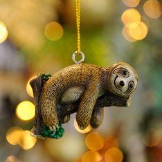 5.5cm Lying Sloth Christmas Tree Decoration