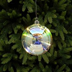 Battery Rainbow Glass Christmas Tree LED Bauble