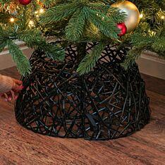 44cm x 44cm Black Willow Christmas Tree Skirt