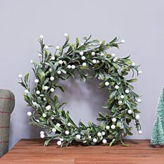50cm Frosted White Berry Christmas Wreath