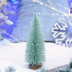 22.5cm Frosted Spruce Bristle Standing Christmas Tree