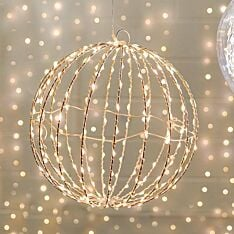 Hanging Firefly Ball Decoration, Warm White Twinkling LEDs