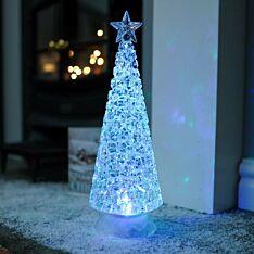 33cm Battery Swirling Glitter Tree