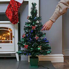 2.5ft USB Fibre Optic Christmas Tree with Bows