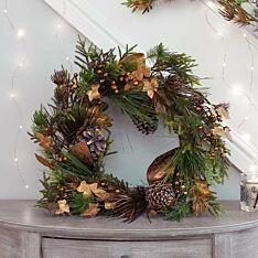 70cm Copper Ivy Christmas Wreath