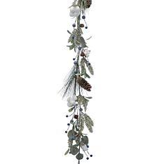 1.5m Mistletoe and Pinecone Christmas Garland