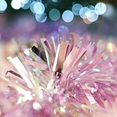 2m Blush Pink Iris Tinsel Christmas Tree Decoration
