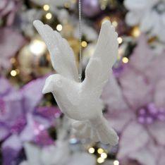 10cm Acrylic Dove Christmas Tree Decoration