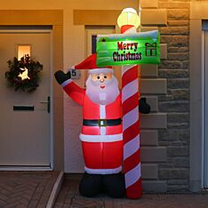 2.4m Outdoor Inflatable Santa with Sign Figure