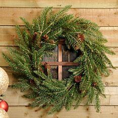 56cm Bristle and Pinecone Christmas Wreath