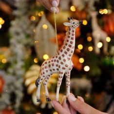15cm Brown Acylic Giraffe Christmas Tree Decoration