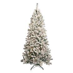 Green Flocked Heartwood Spruce Christmas Tree